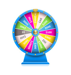 fortune wheel of luck automatic gambling machine vector image
