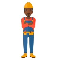 Friendly builder with arms crossed vector image