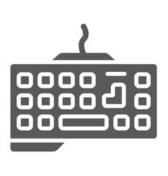 Gaming keyboard glyph icon technology and device vector