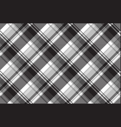 Grayscale black white check plaid seamless pattern vector