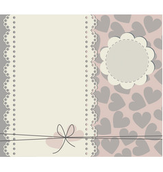greeting card with copy space and square texture vector image