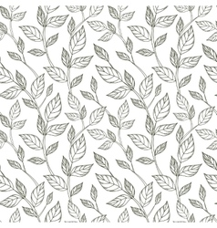 Hand-drawn black and white seamless pattern with vector