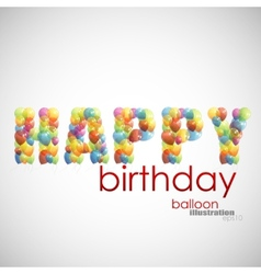 happy birthday background with colorful balloons vector image