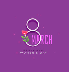 Happy international womens day background vector