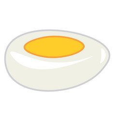Hard boiled egg with yolk or color vector
