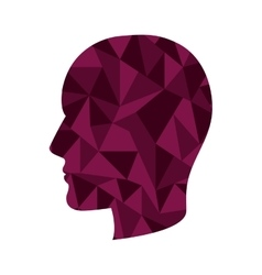 Head with abstract texture vector