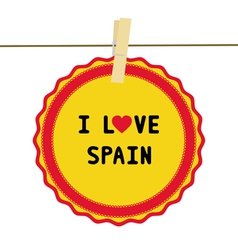 I lOVE SPAIN4 vector image