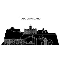 italy catanzaro architecture city skyline vector image