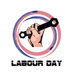 Labor day image vector