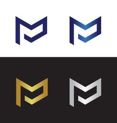 Letter p logo pm logo vector