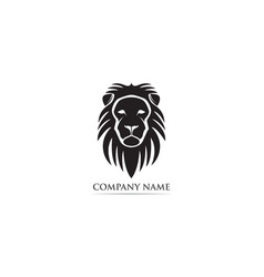 lion head mascot logo and symbol vector image