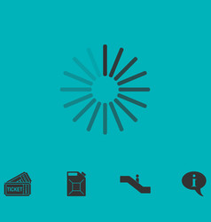 Loading icon flat vector