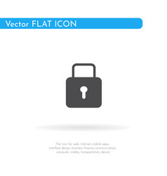 Lock icon for web business finance and vector