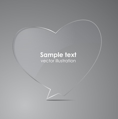 Love realistic glass speech bubbles vector image