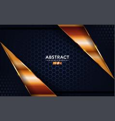 Luxurious premium dark navy abstract background vector
