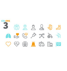 Medical ui pixel perfect well-crafted thin vector