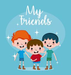 My friends cute cartoons vector