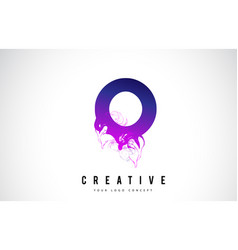 O purple letter logo design with liquid effect vector