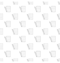 Pencil and sheet pattern seamless vector