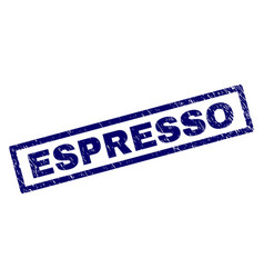 rectangle scratched espresso stamp vector image