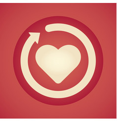 restart love icon vector image