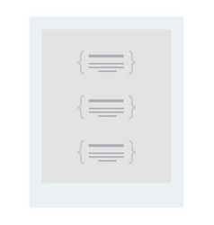 restaurant menu flat isolated vector image