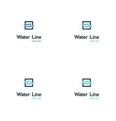 river creative logo design vector image