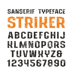 sanserif font in sport style vector image