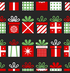 Seamless pattern with gift boxes christmas vector