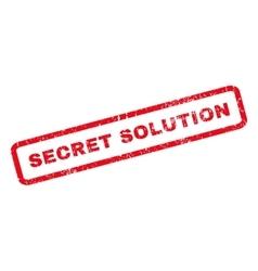 Secret Solution Rubber Stamp vector image
