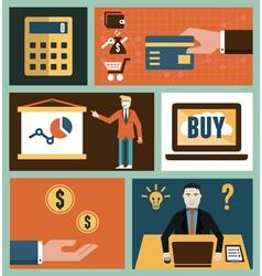 set analytics and online marketing symbol vector image