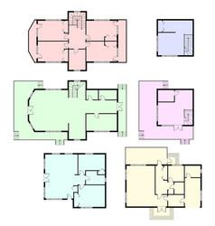 Set architectural plans vector