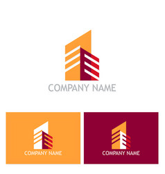 shape cityscape company logo vector image