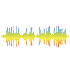sound banner color logo equalizer isolated vector image