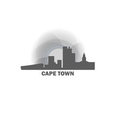 south africa cape town skyline vector image