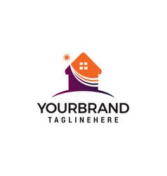 Star home logo design concept template vector