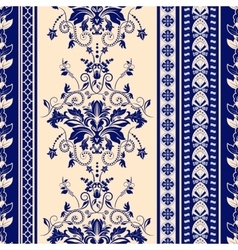 Striped seamless pattern Damask background vector