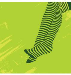 Striped stockings vector