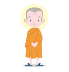 thai monk cartoon vector image
