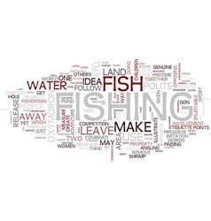 The polite angler text background word cloud vector