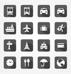 travel transport icon vector image