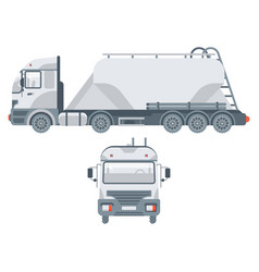 truck transportation sand side view and front view vector image