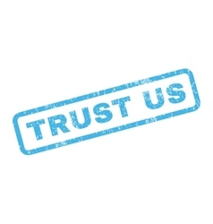 Trust Us Rubber Stamp vector image