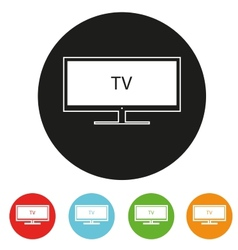 Tv sets silhouette icons for your design vector