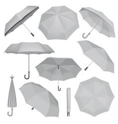 Umbrella mockup set realistic style vector