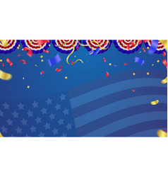 usa independence day poster with air balloons and vector image