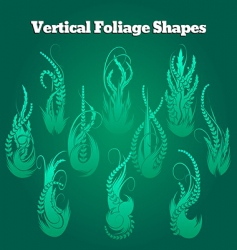 vertical foliage shapes vector image