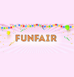 vintage banner for funfair 3d vector image