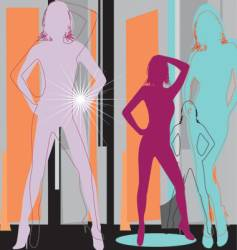 artistic women vector image