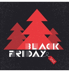 black friday poster tree christmas vector image vector image